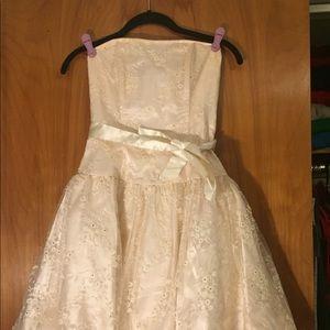 Jessica McClintock Party Dress, Cream, Sz 4